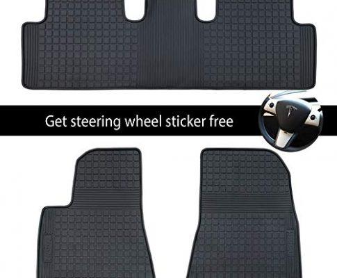 Allwetter-Bodenschutz – BMZX Model 3 Auto-Fußmatten-Set aus Gummi-Cargo-Liner für Tesla Model 3 Matten