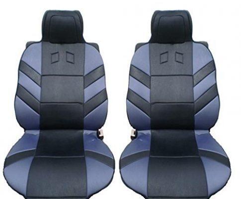 2x Vordere Auto Sitzauflagen PKW Sitzaufleger Grau Schwarz Hochwertig Autoschutz Auflage Neu OVP