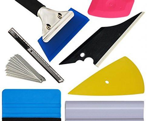Ehdis Neue Ankunft !! 7 PCS Fahrzeugglas-Schutzfolie Autofenster Wrapping-Tönung-Vinyl Installation Tool: Rakeln, Spachteln, Folienschneider