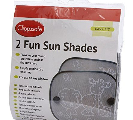 Clippasafe Fun Sun Screens Black and White, 2 – Pack