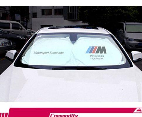 Unbekannt Auto Windschutzscheibe Sonnenschutz–sperrt UV-Strahlen Sonne Visier Displayschutzfolie, Sonnenschutz zu Halten Ihr Fahrzeug Cool Schäden Frei, für BMW