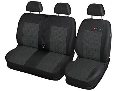 T4 Sitzbezüge nach Maß Autoplanen perfekte Passform Schonbezüge Bezüge Schöner Velour + Strickpolster ®Auto-schmuck T4 2+1 P-1