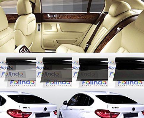 Solar Screen Profi Auto Tönungsfolie Light Schwarz 65% Scheibenfolie 76cm Breite Black Plus 65c Scheibentönungs-Folie Ink ABG