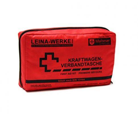 Leina Werke 11000 KFZ-Verbandtasche Compact ohne Klett, Rot/Schwarz