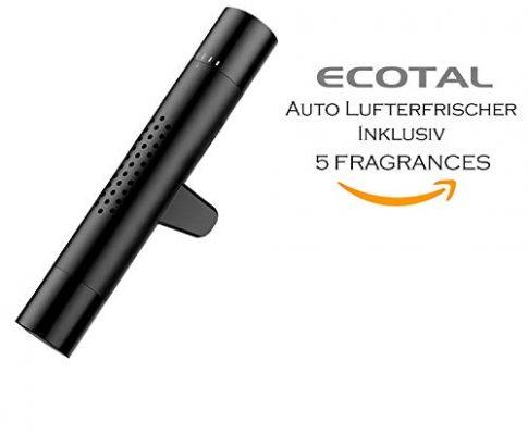Automatische Verteilung Durch Klimaanlage Schwarz – Ecotal Plus Auto Lufterfrischer/Duft-Spender Für Lüftungsgitter Aus Aluminium Mit 5 Verschiedenen Duftstäbchen Oder Für Eigene Duftöle