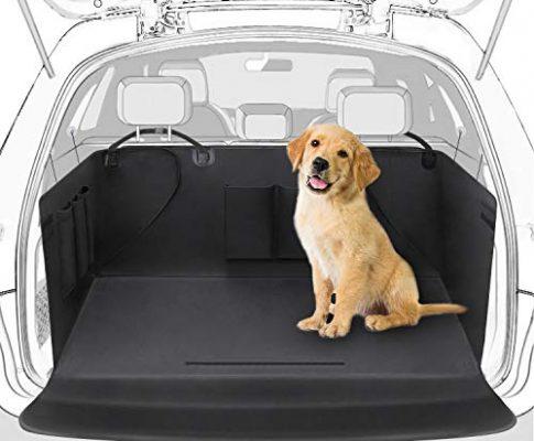 ROYI Universeller Kofferraumschutz, Wasserdichter Kofferraum Hundedecke Auto Schutzdecke, 2 in 1 mit Seitenschutz gegen Verrutschen/Kratzen/Dust,Kofferraumdecke für Auto SUV/CRV 171x101cm