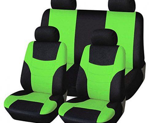 WINOMO 8PCS Universal Classic Sitzbezug KFZ-Sitz inkl. denn Styling Sitz deckt Set grün Fluorescent