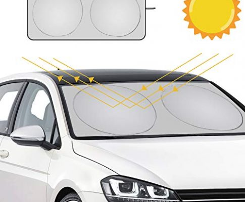 URAQT Auto Sonnenschutz, Sommer Sonnenschutz Auto Frontscheibe Auto Sonnenblende Super Leichter Antrag und das Falten von Merkmal