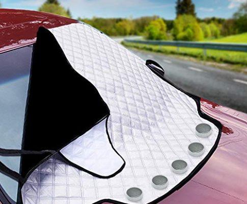 Bramble Magnetische Auto Windschutzscheibe Sonnenschutz, Frontscheiben Abdeckung für alle Jahreszeiten – Passend für alle Standardfahrzeuge – Sommer Sonne Winter Schnee Frost Eisschutz
