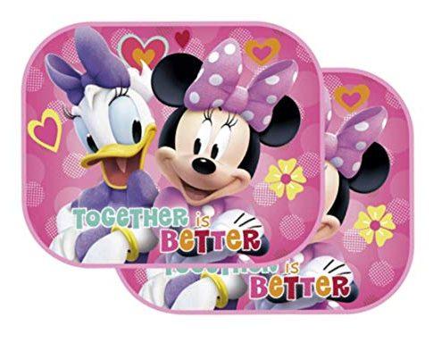 Sonnenblende UV Schutz Paw Minnie Mouse 3 – Theonoi 2 x Auto PKW Sonnenschutz wählbar Minnie Maus – Sofia/Vorhänge Seitenscheibe – Frozen – Princess