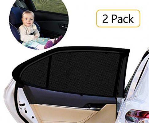 HWeggo Autofenster Sonnenschutz Heckscheibe, Sonnenschutz Auto Baby mit uv Schutz für Kinder Hund im Rücksitz Sonnenschutz ist für die meisten mittelgroße Autos Seitenscheiben passgenau-113x50cm