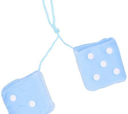Sumex DADOS30 Stoffwürfel mit Punkten, Blau/Weiß, 7 x 7 cm