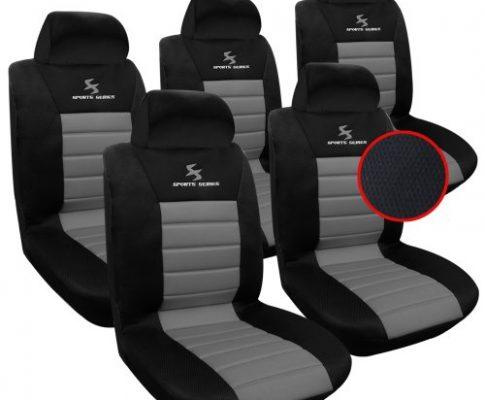 WOLTU AS7255-5 5er Sitzbezüge Auto Einzelsitzbezug universal Größe, Komplettset, grau