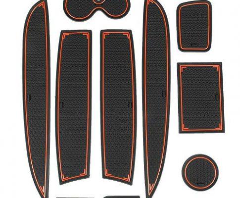 ISSYZONE CLIO 4 Anti-Rutsch-Unterlage, wasserdicht, für Innenräume, rutschfest, Pad Slot aus Gummi für Clio 4 2013-2018 rot