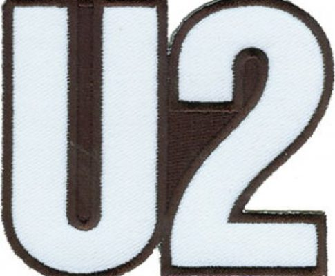 U2 Logo, Officially Licensed Original Artwork, High Quality Iron-On / Sew-On, 3″ x 2.2″ Embroidered PATCH Flicken
