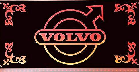 VOLVO LED-Leuchtschild 60x30cm ✓ Ideale Geschenkidee ✓ 18 LEDs ✓ Lasergraviert | Edles Neonschild als Truck-Accessoire | Beleuchtetes VOLVO Logo-Schild für den 24Volt-Anschluss | Ideales LKW-Zubehör für Trucker in verschiedenen Farben