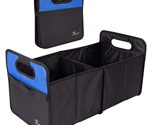 TIMARO Kofferraum Organizer | große Faltbare Einkaufstasche | Tragetasche | klappbare Kofferraumbox | 50L Kofferraumtasche | Auto Aufbewahrungstasche | Klappbox Falttasche