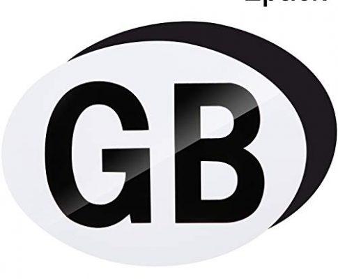 2 Stück Magnetschilder GB-Schilder Sicherheitsschilder für Reisen im Ausland, europäische Aufkleber, kein Abblasen und einfach zu bewegen