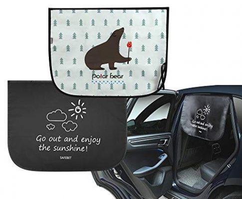 2 Stücke – EASY EAGLE Sonnenschutz Auto, Universeller Magnet Absaugung Autofenster Sonnenblende, Auto Hinten Fenster Vorhang zum Blockieren schädlicher UV-Strahlen und Heller Sonnenlicht für Kinder