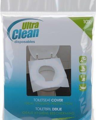Weiß, 30 Covers – Wegwerfbar Hoch QualityToilet Sitzbezüge Hygienisch Schutz Rückspül Abdeckung Waschraum