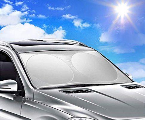 Ohuhu® Sonnenschutz Auto Windschutzscheibe, Auto Sonnenblende, Sonnenschutz Auto Frontscheibe, 160x86cm