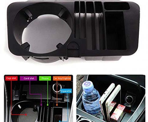 Issyzone Auto Central Konsole Getränkehalter Aufbewahrungsbox Becherhalter Zentralbox Kompatibel für C-Class W205 GLC Class X253 E Class W213