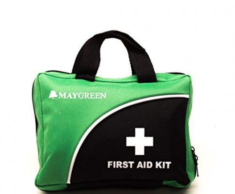 Erste-Hilfe-Set von MayGreen – umfassende Erste-Hilfe-set für Haus, Arbeit, Auto oder Reise. Kommt in Rot oder Grün und ist auch ein tolles Geschenk. Grün