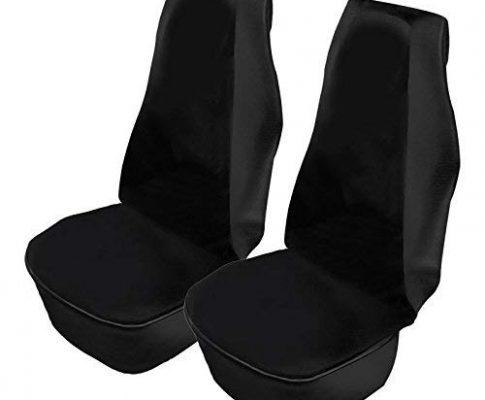 Werkstatt Sitzschoner 2er Set schwarz Airbag geeignet wasserdicht ölbeständig für Auto, Wohnmobil, Transporter, Lkw