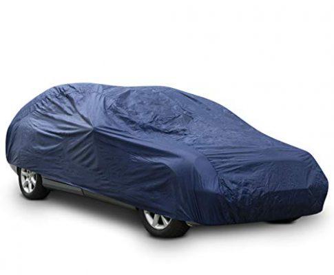 Autoplane Garage Abdeckung – Autogarage staubdicht wasserabweisend – Navaris Auto Vollgarage Abdeckplane M – 432 x 165 x 120cm – für Winter Sommer