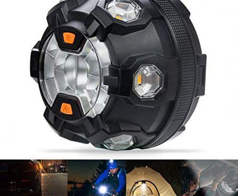 Bawoo LED Warnleuchte Warnblinkleuchte Auto Notfall Pannenhilfe mit 9 Leuchtmodi Warnblitzer Warnsignal Blinklicht Warnlicht Notfallleuchte für Auto und Fahrrad