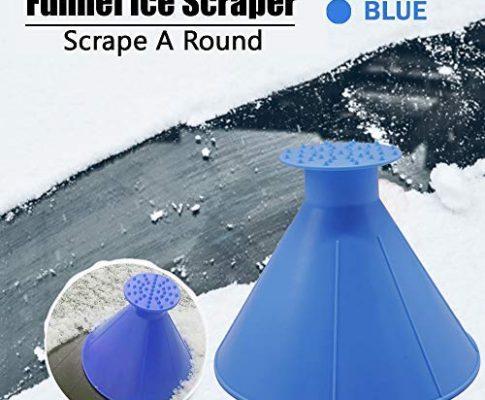 LJNH HKS-37 Eiskratzer Multifunktionaler Kraftstofftrichter Scheibenwischerkegel Form Outdoor Windschutzscheibe Magic Snow Remover Auto Werkzeug blau
