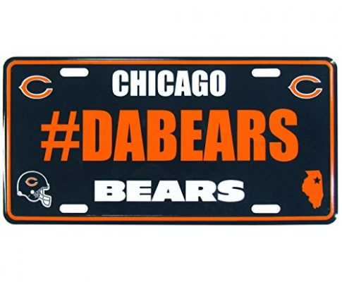 Siskiyou NFL Chicago Bears Unisex Hashtag License Plate