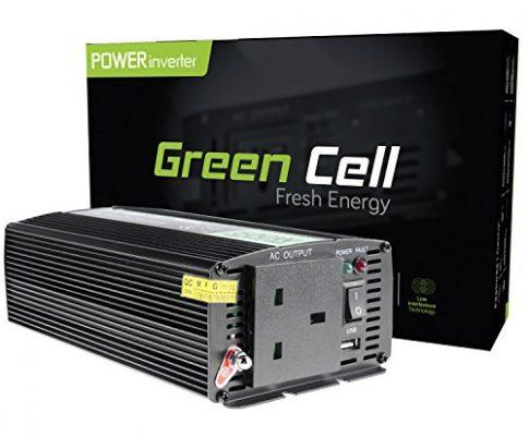 Grün Cell® 500W Power Inverter DC 24V bis AC 230V 240V KFZ/LKW Spannung Konverter, inkl. Stecker für Zigarettenanzünder, USB, Ladeanschluss und direkten Anschluss an Kfz Akku