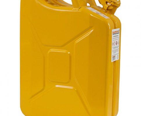 BAUPROFI 20 Liter Stahlblechkanister GGVS mit Sicherungsstift GELB Benzinkanister 20L