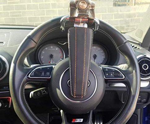 Hanmar Lenkradschloss mit Diebstahlschutz, für Autos, mit 3 Schlüsseln