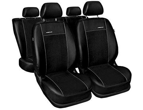 A4 B8 Sitzbezüge nach Maß perfekte Passform Schonbezüge Sitzschoner Velour + Strickpolster ®Auto-schmuck A4 B8 Premium schwarz