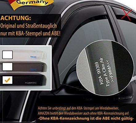 Farbe: dunkel – ClimAir Windabweiser vorne -CLS0033523D