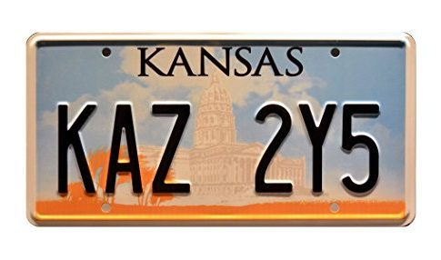 Supernatural | Dean Winchester's Metallicar | KAZ 2Y5 | Metal Stamped Vanity Prop License Plate