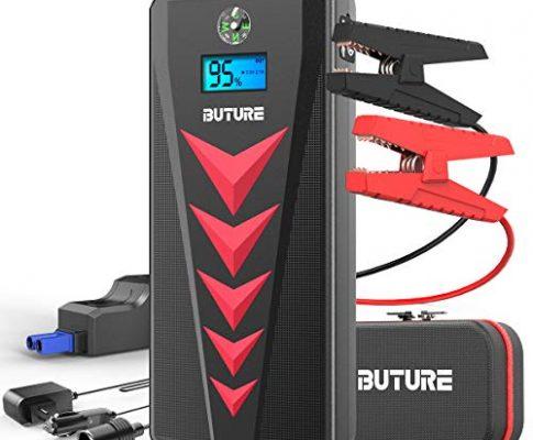 Tragbare Starthilfe Powerbank,BuTure Auto Starthilfe2000A Spitzenstrom 22000mAh für 12V 8.0L Benzin oder 8.0L Dieselmotor, Starthilfegerät mit Dual USB,DC Ausgang,LED Taschenlampe
