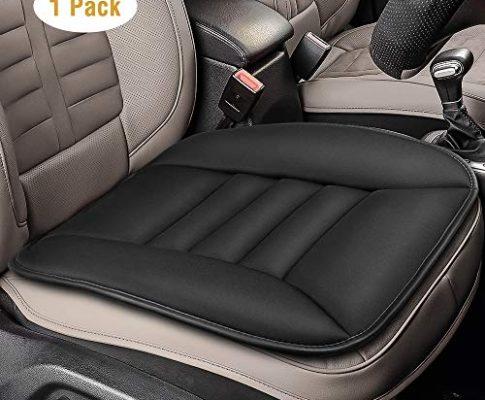 Tsumbay Auto Sitzkissen Sitzauflage Autositzkissen Vordersitze Memory Schaum Pad Kissen Auto Abdeckung für Autositz Bürostuhl Schwarz 1 Stück