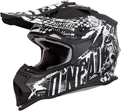 Top 8 Motocross Helm schwarz Weiß – Motocrosshelme